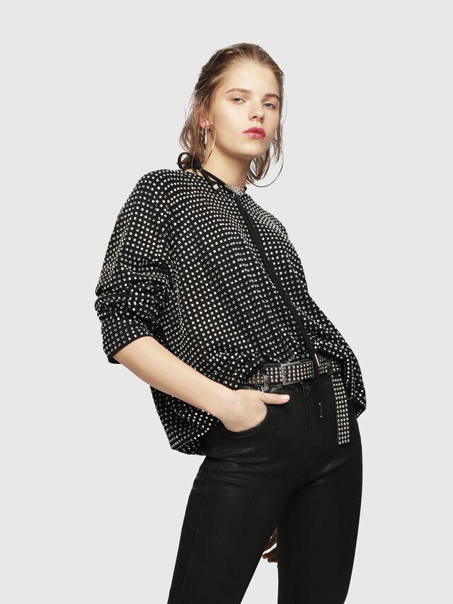 Diesel - F-NEW, Black - Sweaters - Image 4