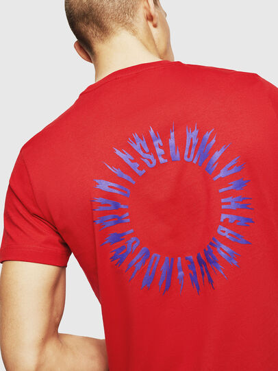 Diesel - T-DIEGO-A12, Fire Red - T-Shirts - Image 4