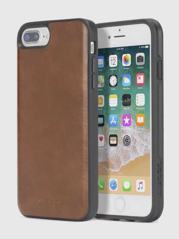 BROWN LEATHER IPHONE 8 PLUS/7 PLUS/6s PLUS/6 PLUS CASE,  - Cases