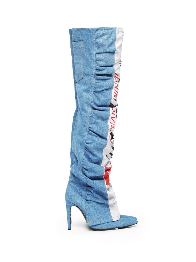 Diesel - SOHIGHBOOT, Light Blue - Boots - Image 4