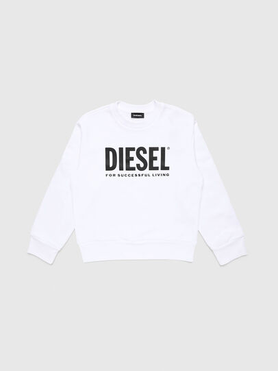 Diesel - SCREWDIVISION-LOGO O, White - Sweaters - Image 1