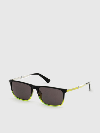 Diesel - DL0312, Black/Yellow - Sunglasses - Image 2