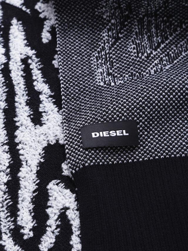 Diesel - K-VOXY, Black/White - Scarf - Image 2