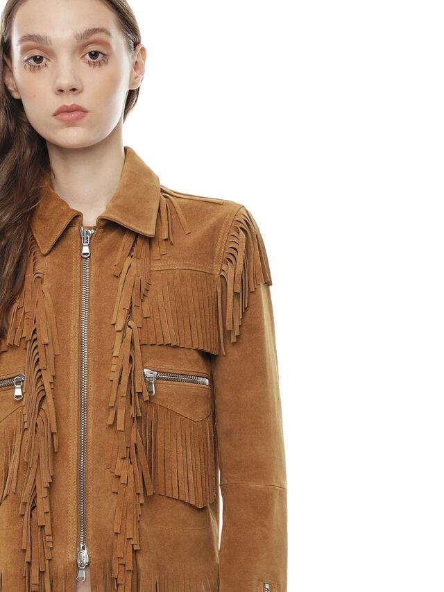 Diesel - LAUL, Brown/Beige - Leather jackets - Image 4