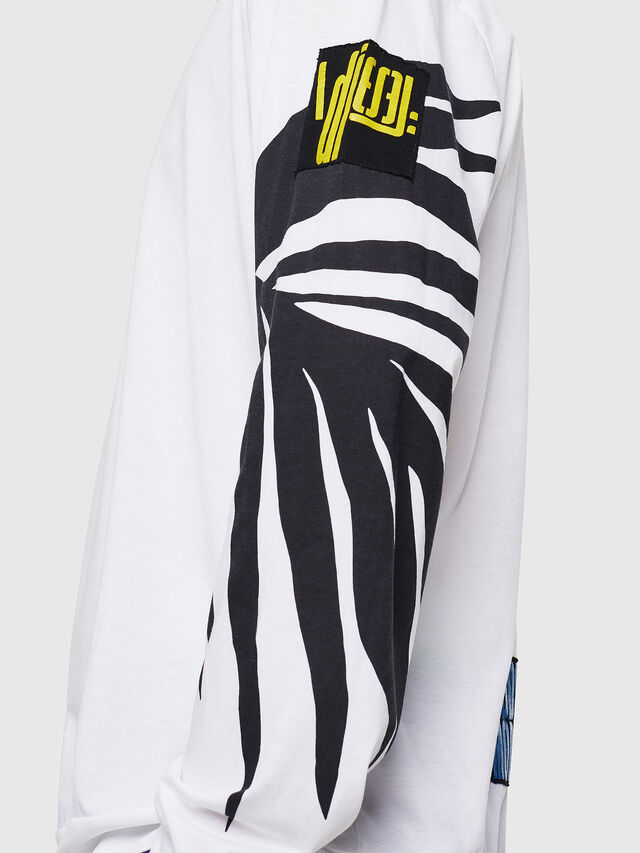 Diesel - T-JUST-LS-RIB, White - T-Shirts - Image 3