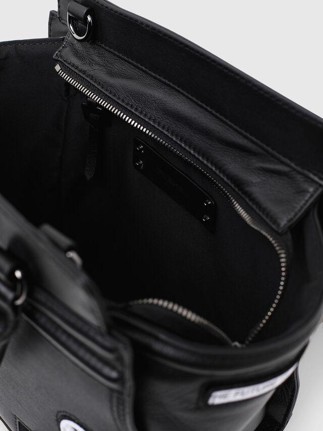 Diesel - LE-ZIPPER SATCHEL S, Black - Shopping and Shoulder Bags - Image 4