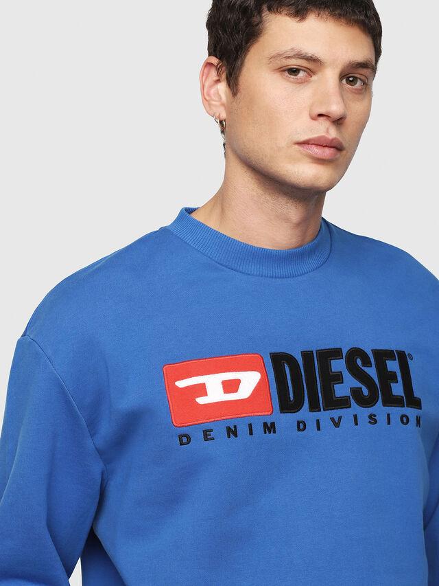 Diesel - S-CREW-DIVISION, Brilliant Blue - Sweaters - Image 3