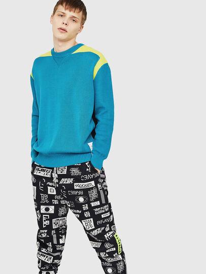 Diesel - K-MELT, Azure - Knitwear - Image 4