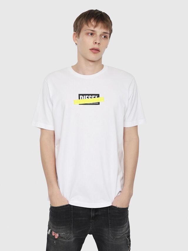 Diesel - T-JUST-DIE, White - T-Shirts - Image 1