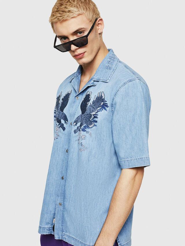Diesel - D-RASHI, Blue Jeans - Denim Shirts - Image 1