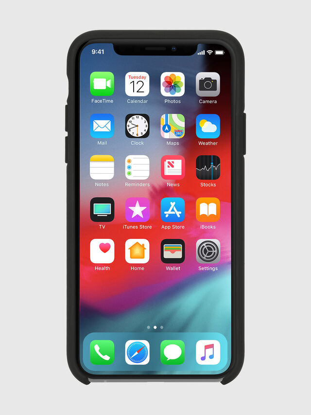 Diesel - DIESEL PRINTED CO-MOLD CASE FOR IPHONE XS & IPHONE X, Black/White - Cases - Image 4