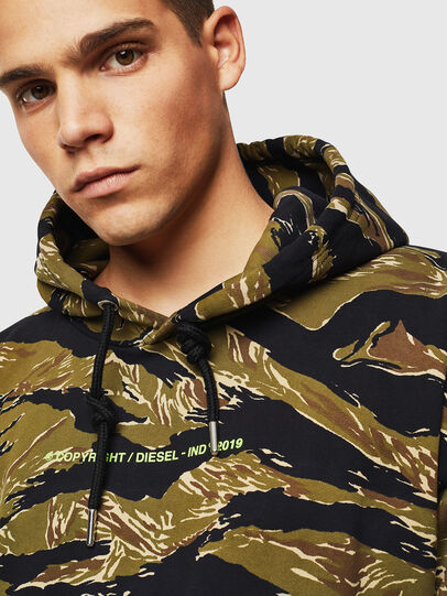 Diesel - S-ALBY-TIGERCAM, Green/Black - Sweaters - Image 3