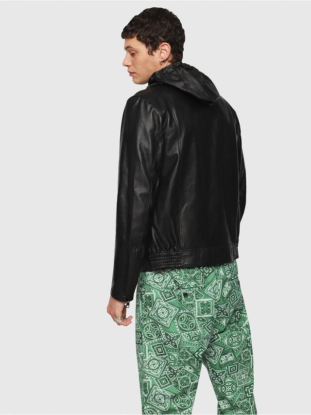 Diesel - L-RESTIL, Black - Leather jackets - Image 2