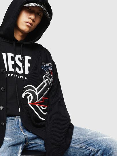 Diesel - K-EXIT, Black - Knitwear - Image 4