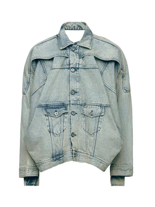 Diesel - SOJK01, Grey Jeans - Jackets - Image 1