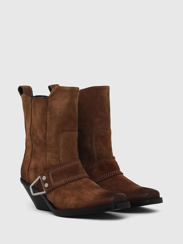 Diesel - D-GIUDECCA MA, Brown - Ankle Boots - Image 2