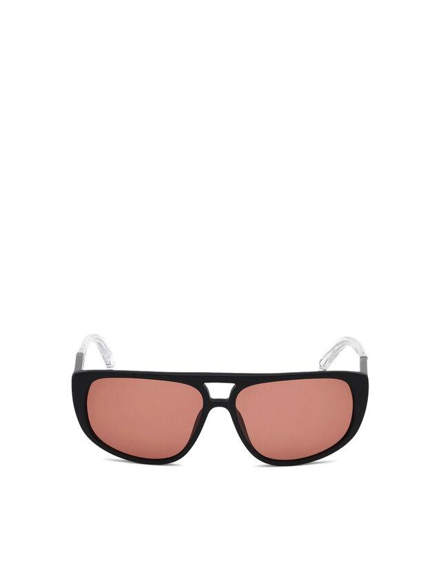 Diesel - DL0300, Black/White - Sunglasses - Image 1
