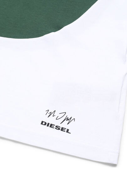 Diesel - D-SHIELD-GREEN, White - T-Shirts - Image 3