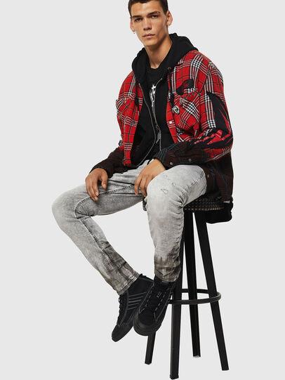 Diesel - Krooley JoggJeans 0091H, Light Grey - Jeans - Image 4