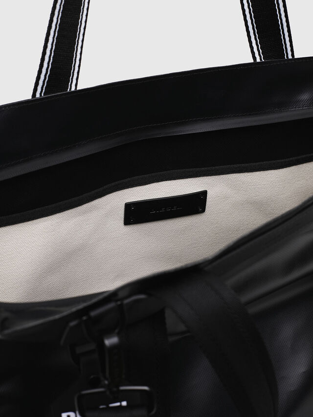 Diesel - F-CAORLY SHOPPER L, Black/White - Shopping and Shoulder Bags - Image 4