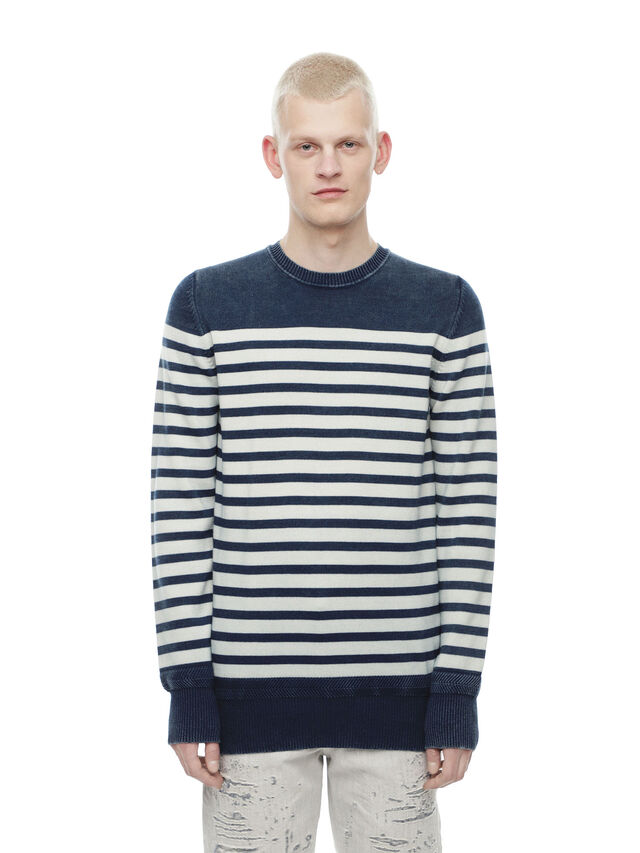 Diesel - KISTREET, Blue/White - Knitwear - Image 1