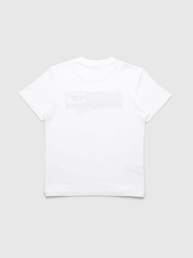 Diesel - UN-K-TJUSTDIVISION-B, White - T-shirts and Tops - Image 2
