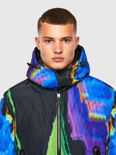 Diesel - W-ON-AOP, Blue/Green - Winter Jackets - Image 4