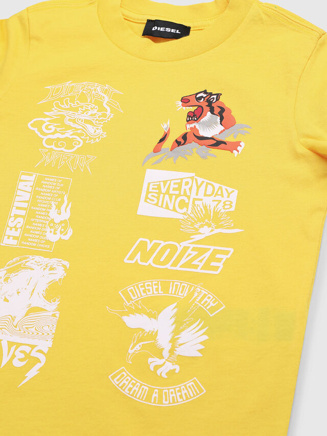 Diesel - TUCSEB-R, Yellow - T-shirts and Tops - Image 3