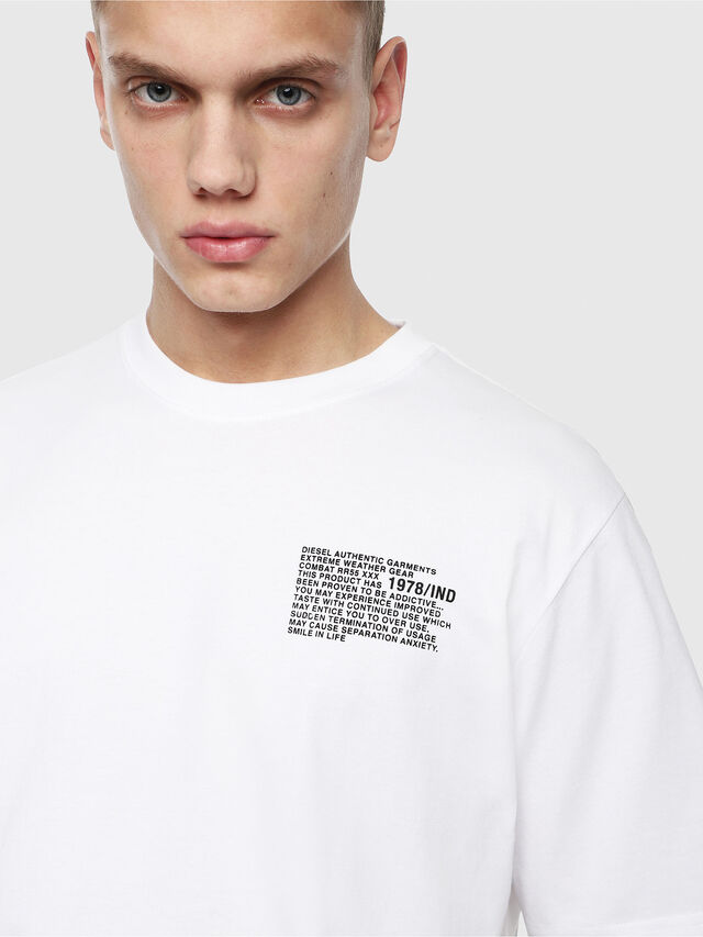 Diesel - T-JUST-Y1, White - T-Shirts - Image 3