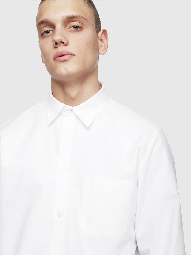Diesel - S-MOI-R, White - Shirts - Image 3