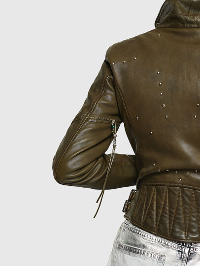 Diesel - L-SINYA-A, Military Green - Leather jackets - Image 5