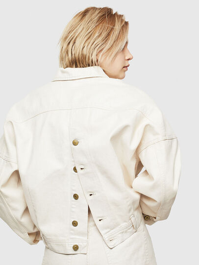 Diesel - DE-JALA, White - Denim Jackets - Image 3