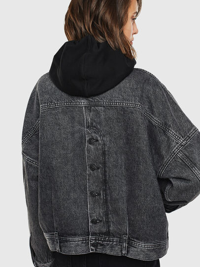 Diesel - DE-JALA, Black/Dark grey - Denim Jackets - Image 2