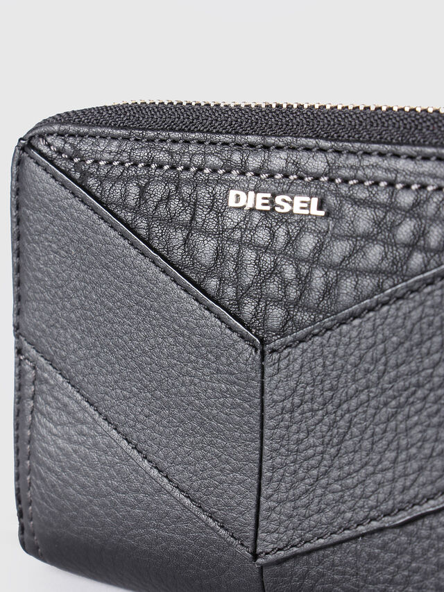 Diesel JADDAA, Black Leather - Small Wallets - Image 3
