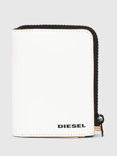 Diesel - L-12 ZIP, White - Small Wallets - Image 1
