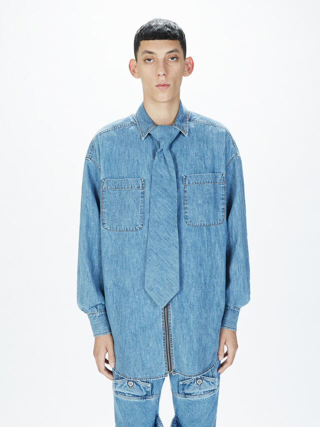 Diesel - SOTS01, Light Blue - Shirts - Image 3