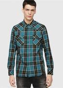 S-EAST-LONG-E, Blue/Green - Shirts