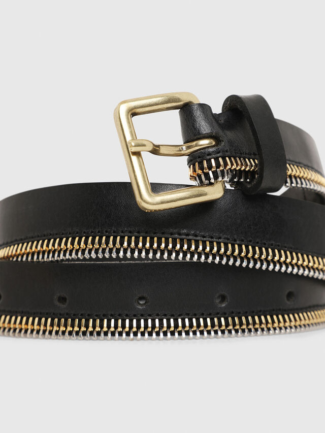 Diesel - B-ZIPPER, Black - Belts - Image 2
