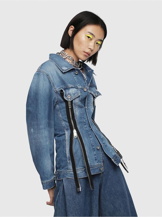 Diesel - DE-LILAC, Blue Jeans - Denim Jackets - Image 3