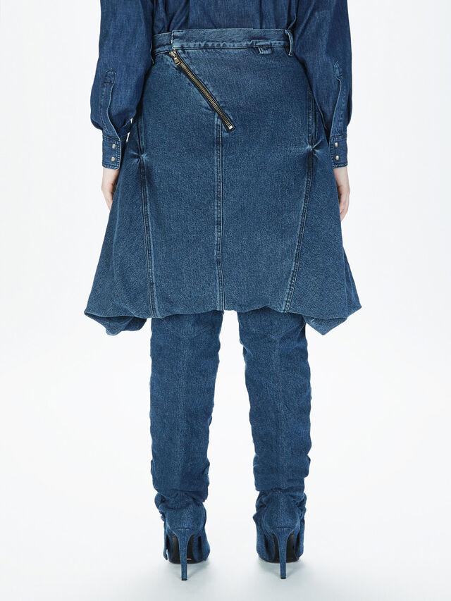 Diesel - SOBS01, Dark Blue - Skirts - Image 4