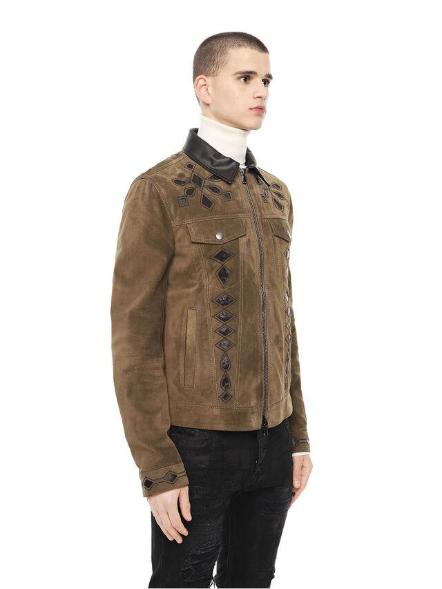 Diesel - LYRICH, Green/Black - Leather jackets - Image 3