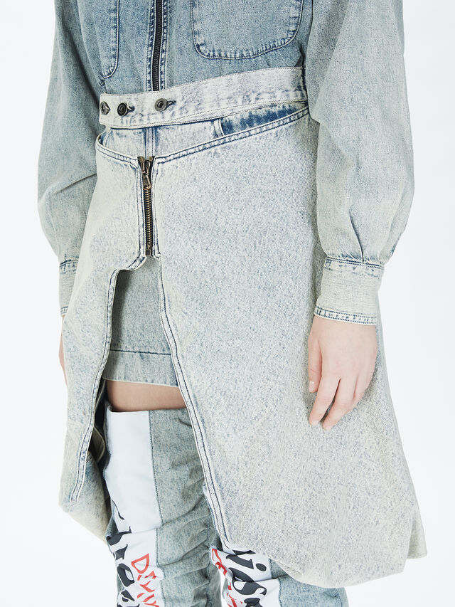 Diesel - SOBS01, Grey Jeans - Skirts - Image 5