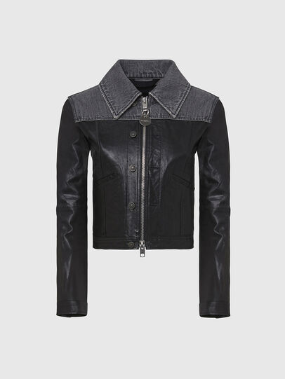 Diesel - L-LYLE, Black - Leather jackets - Image 1