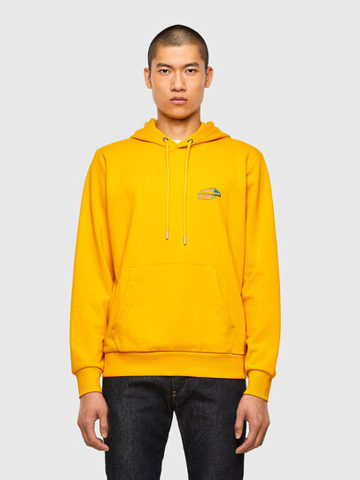 Diesel - S-GIRK-HOOD-K22, Yellow - Sweaters - Image 1