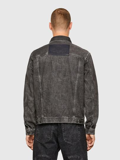 Diesel - NHILL-ROD-SP, Black - Denim Jackets - Image 2