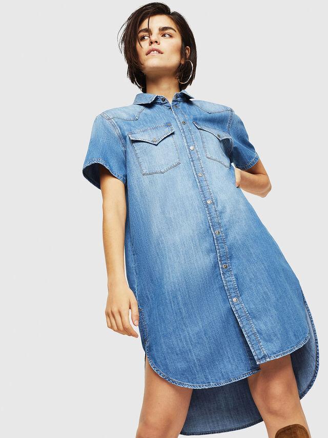 Diesel - DE-BLANCHE-SL, Blue Jeans - Dresses - Image 4