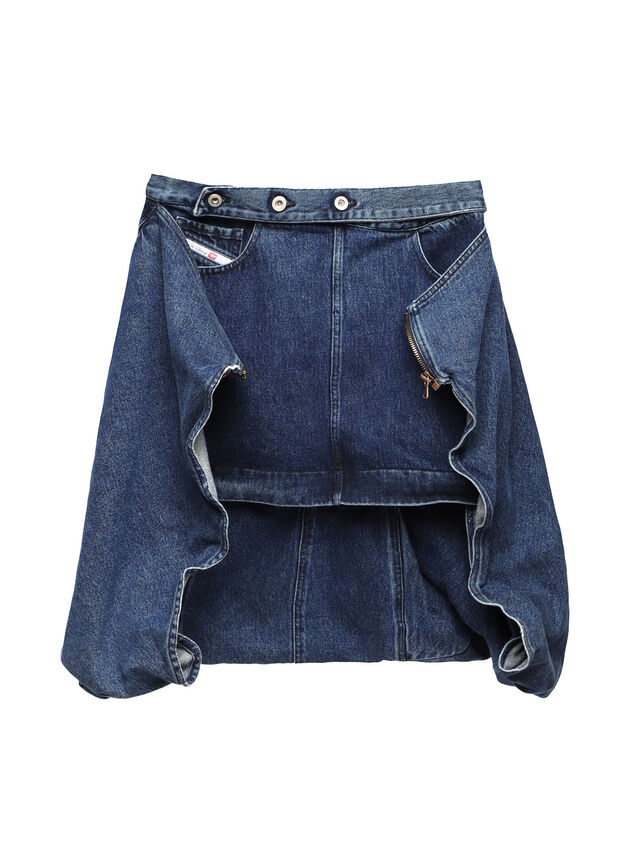 Diesel - SOBS01, Dark Blue - Skirts - Image 1