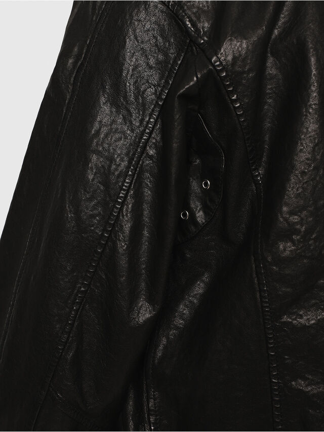 Diesel - L-LYSSEN, Black - Leather jackets - Image 4