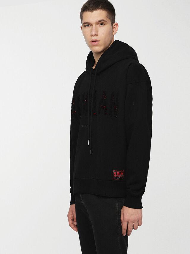 Diesel - DVL-SIZIP-CAPSULE, Black - Sweaters - Image 1