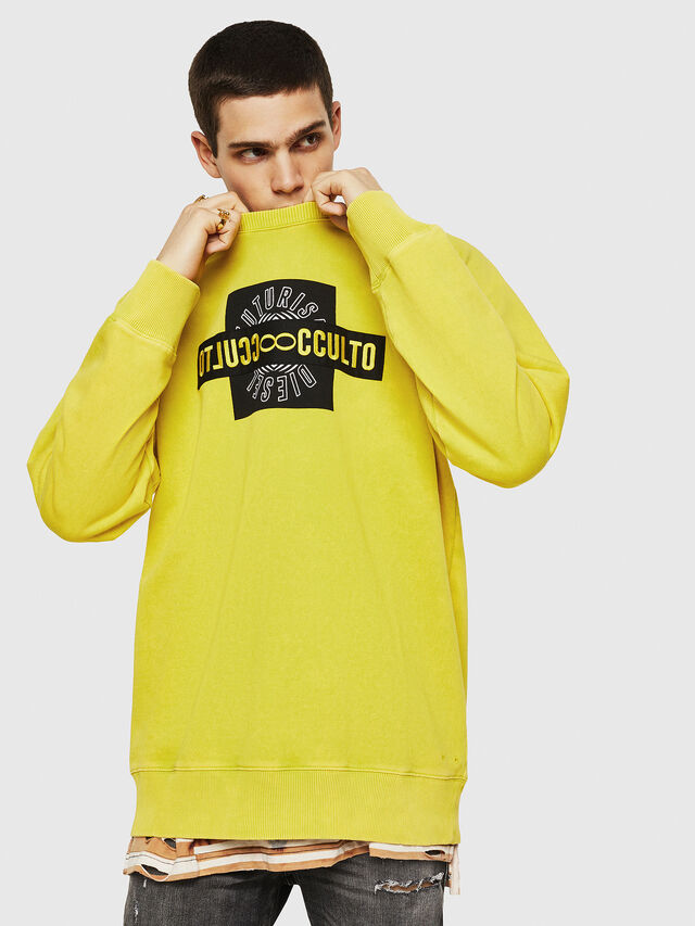 Diesel - S-RODD, Yellow Fluo - Sweaters - Image 1